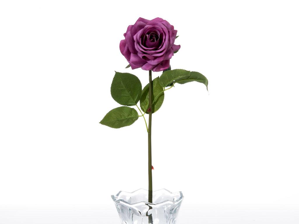 Glam Rose Yapay Çiçek 53 Cm Mor
