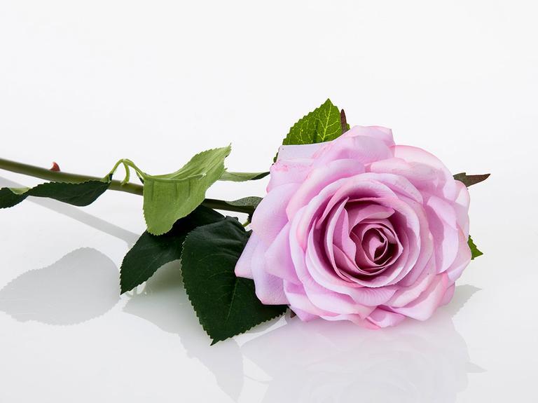 Glam Rose Yapay Çiçek 53 Cm Açık Mor