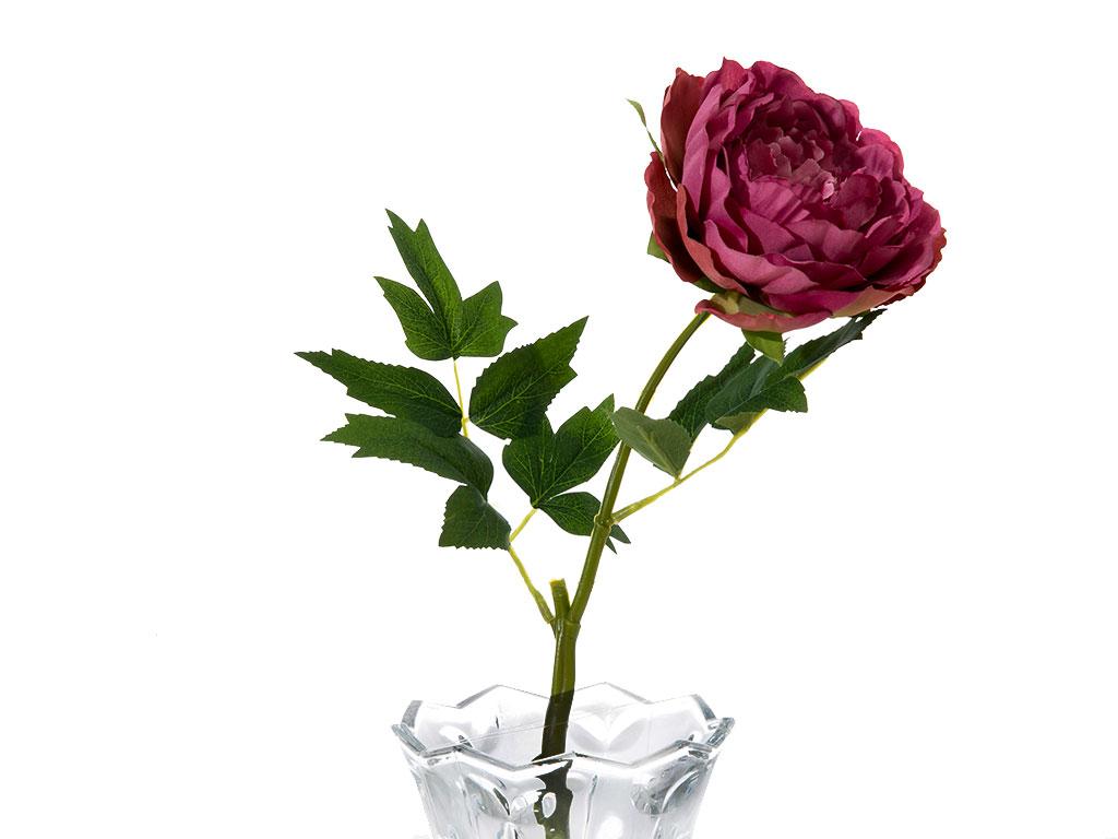 Peony Yapay Çiçek 45 Cm Gül Kurusu
