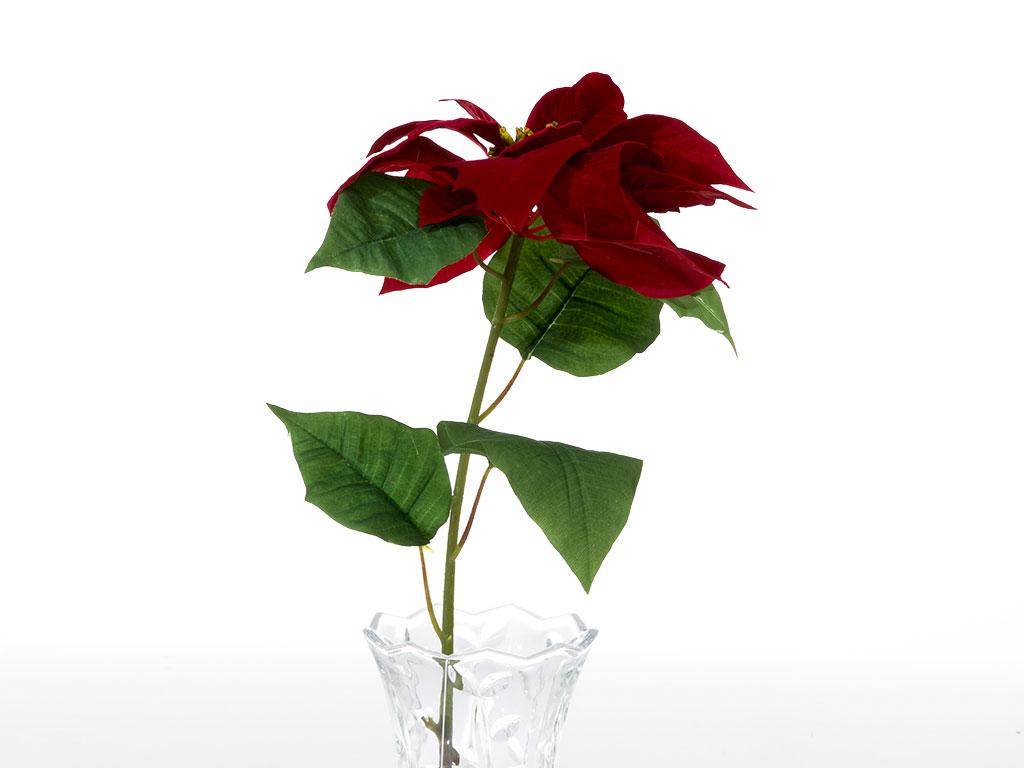 Poinsettia Yapay Çıçek 76 Cm Bordo