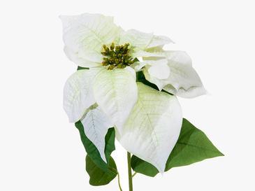 Poinsettia Yapay Çiçek 76 Cm Beyaz