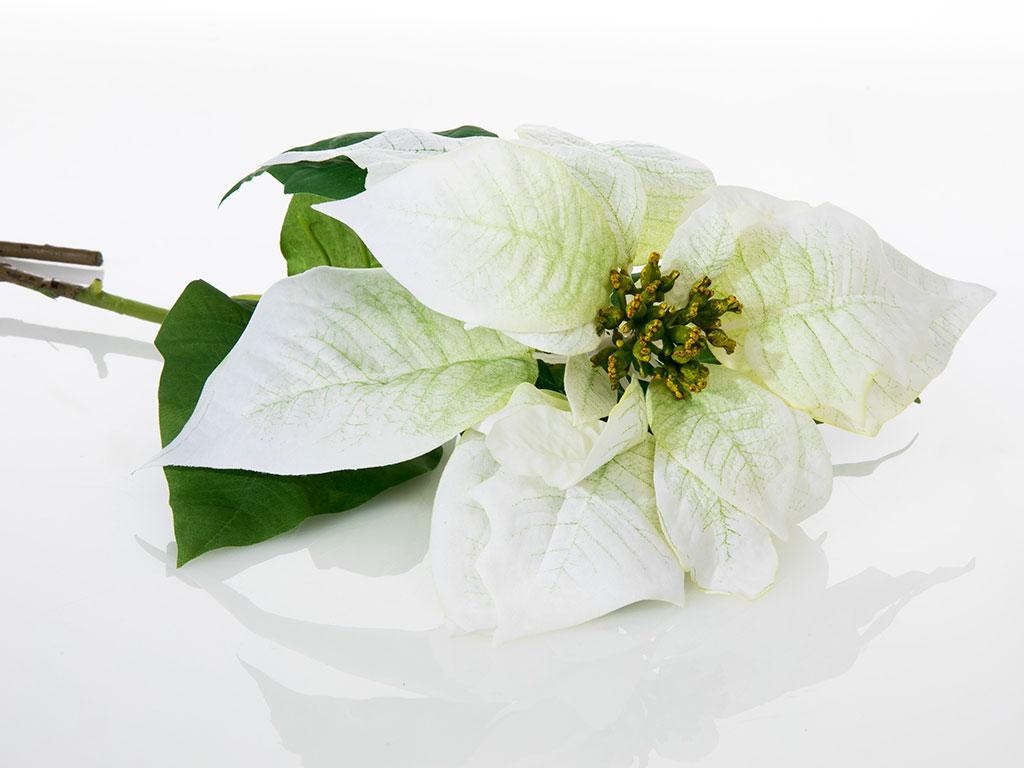 Poinsettia Yapay Çıçek 76 Cm Beyaz