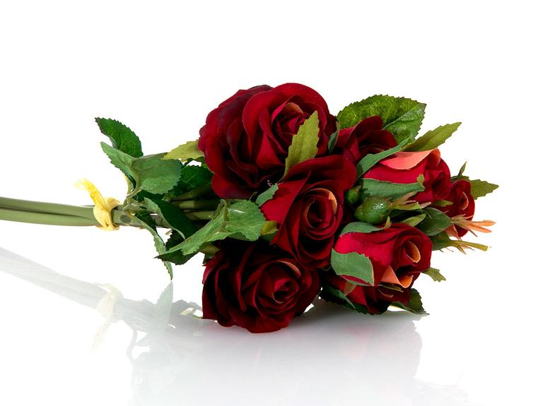 Majestic Rose Yapay Çiçek 43 Cm Bordo
