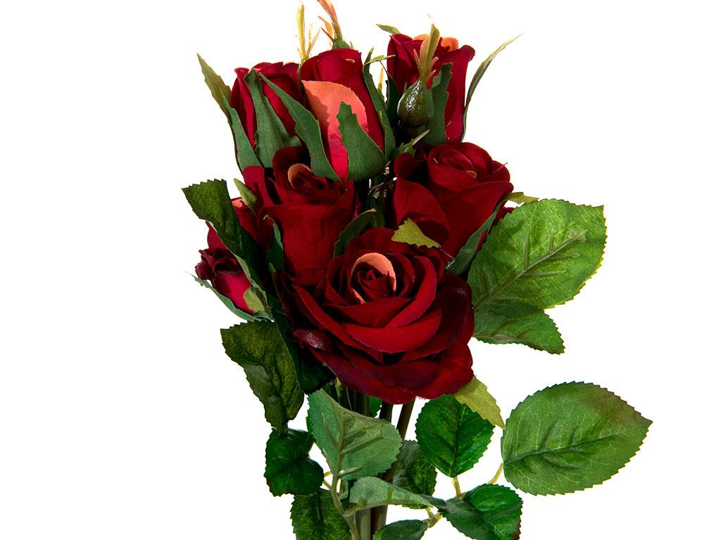 Majestic Rose Yapay Çıçek 43 Cm Bordo