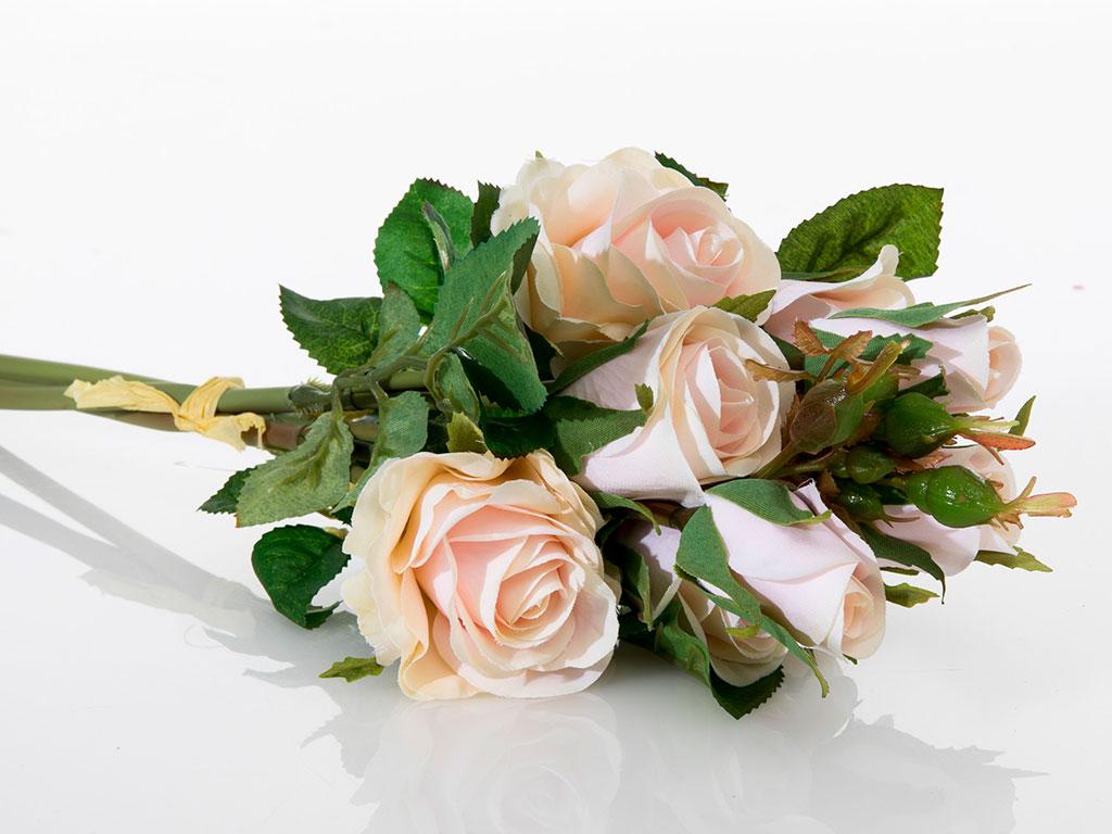 Majestic Rose Yapay Çıçek 43 Cm Açık Pembe