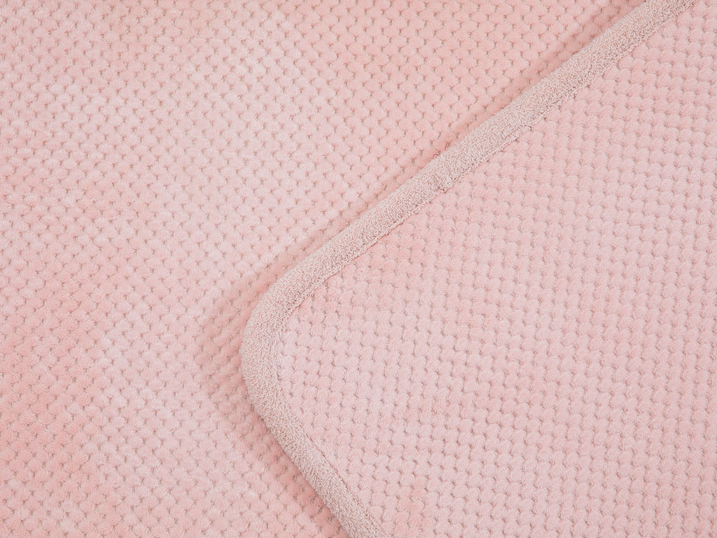 Rose Line Petek Kaydırmaz Taban Klozet Setı 60x90 - 50x60 Cm Pudra Pembe