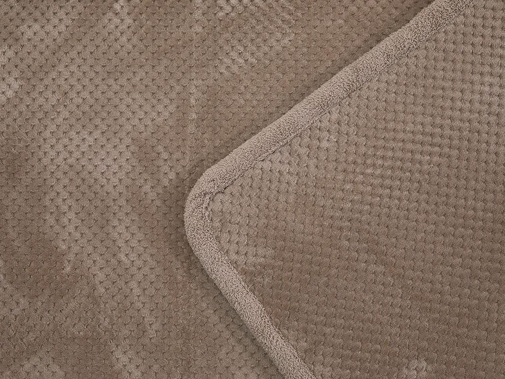 Rose Line Petek Kaydırmaz Taban Klozet Setı 60x90 - 50x60 Cm Bej