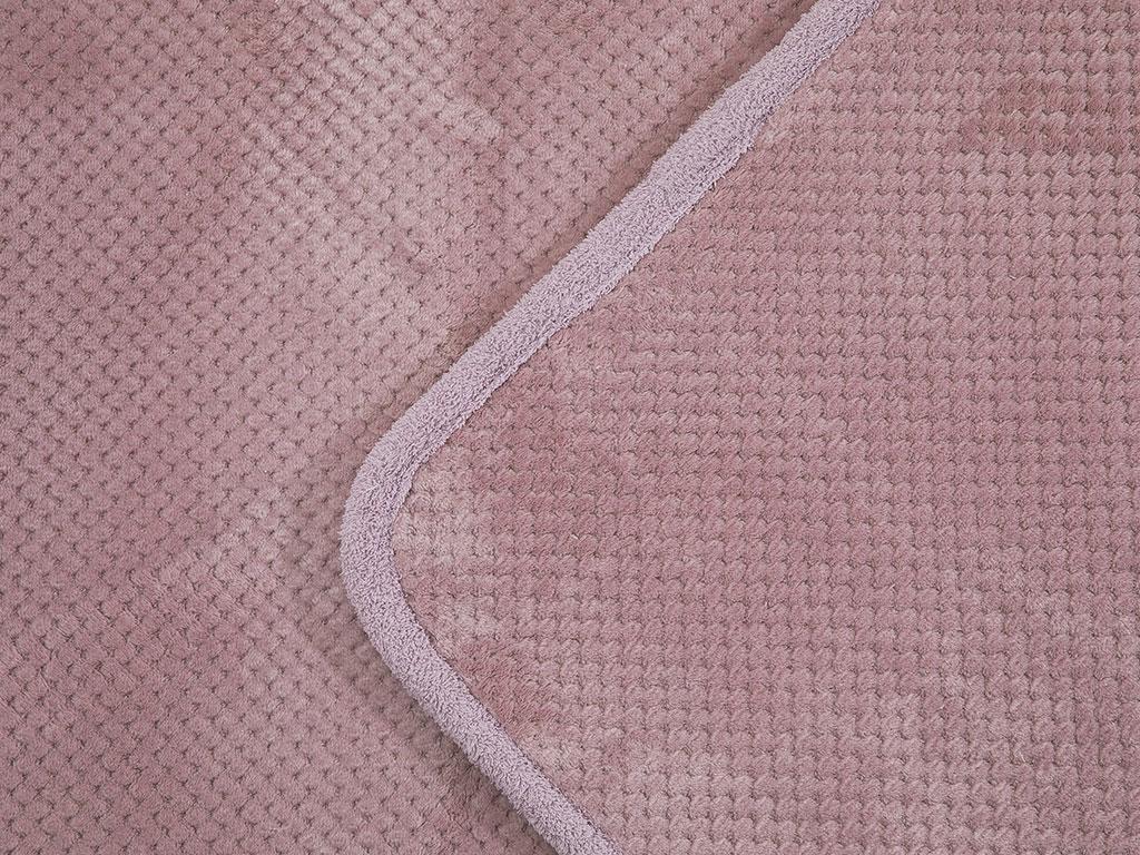 Rose Line Petek Kaydırmaz Taban Klozet Setı 60x90 - 50x60 Cm Mürdüm