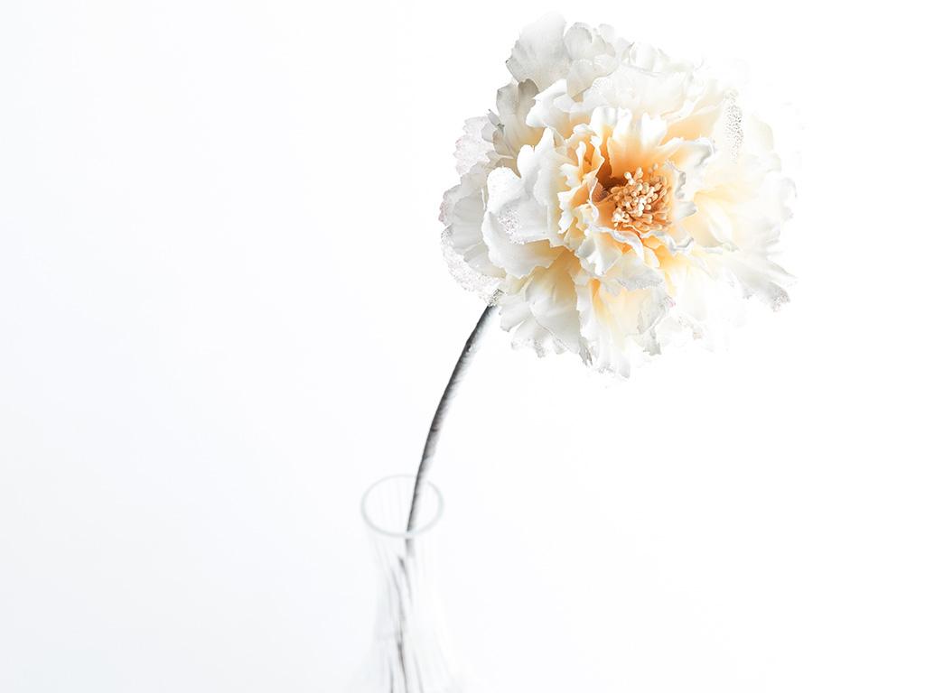 Flora Polyester Yapay Çıçek 65 Cm Bej