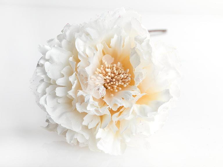 Flora Polyester Yapay Çiçek 65 Cm Bej