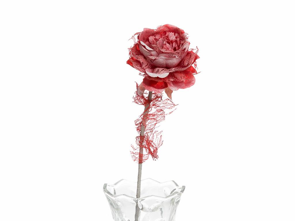 Rosse Polyester Yapay Çıçek 65 Cm Kırmızı