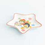 Penguin Bone China Servıs Tabağı 17x17x2 Cm Kırmızı