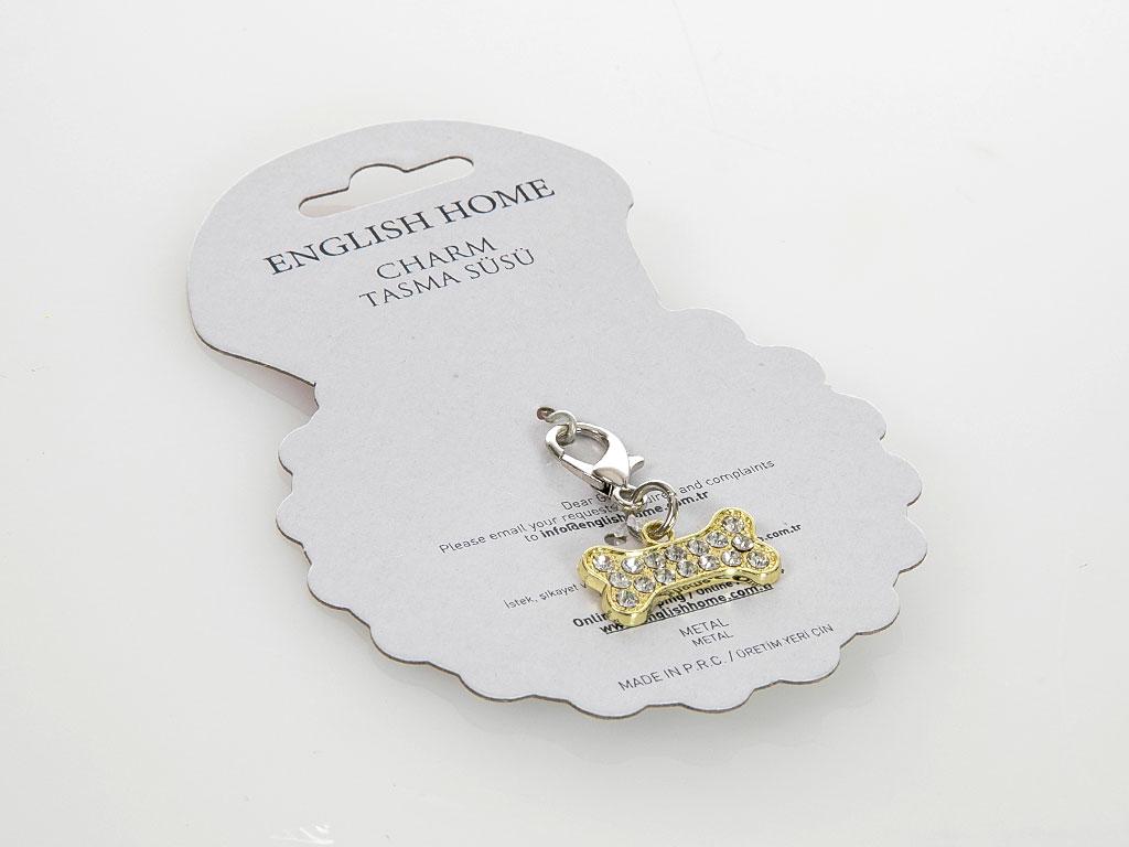 Charm Metal Tasma Süsü 1 Cm Gümüş