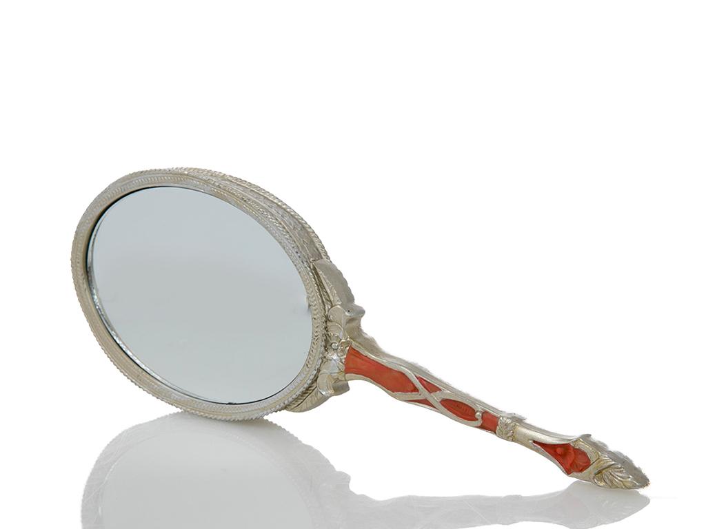 Rosy Polyresin El Aynası 9.3x1.6x26.2 Gold