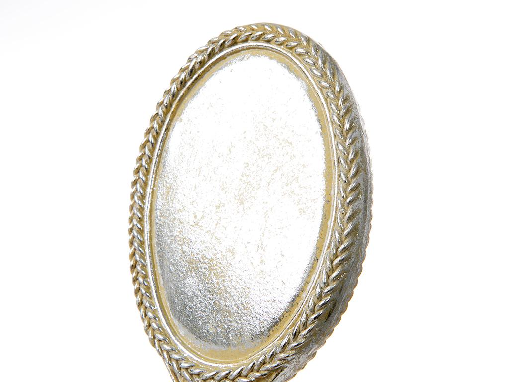 Clara Polyresin El Aynası 10.2x2x23.5 Cm Krem