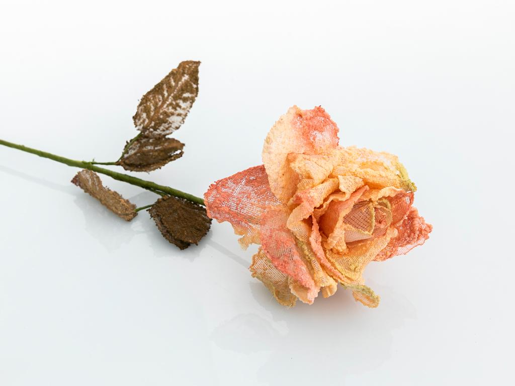 Lisa Kumaş Yapay Çiçek 64 Cm Açık Gül Kurusu