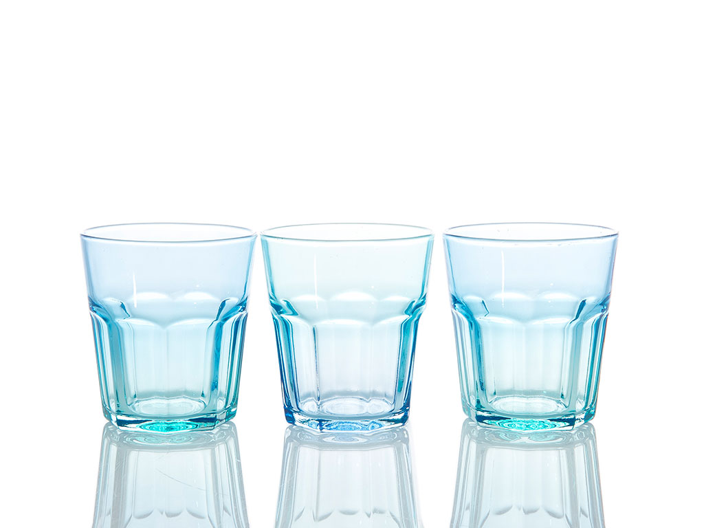 Purse Cam 3'lü Meşrubat Bardağı 265 Cc Renkli