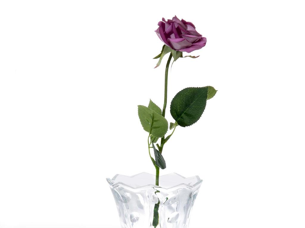 Glam Rose Yapay Çıçek 42 Cm Mor
