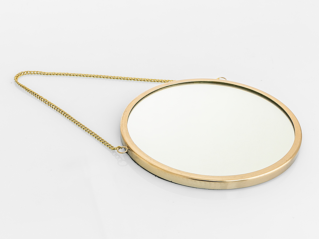 Elegance Metal Ayna 20x20 Cm Gold