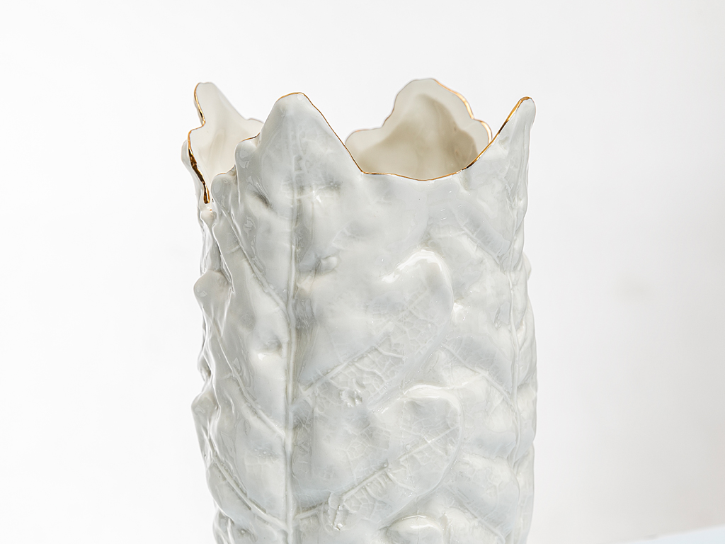 Elegant Stoneware Vazo 20,5x20,8x4,2 Cm Beyaz
