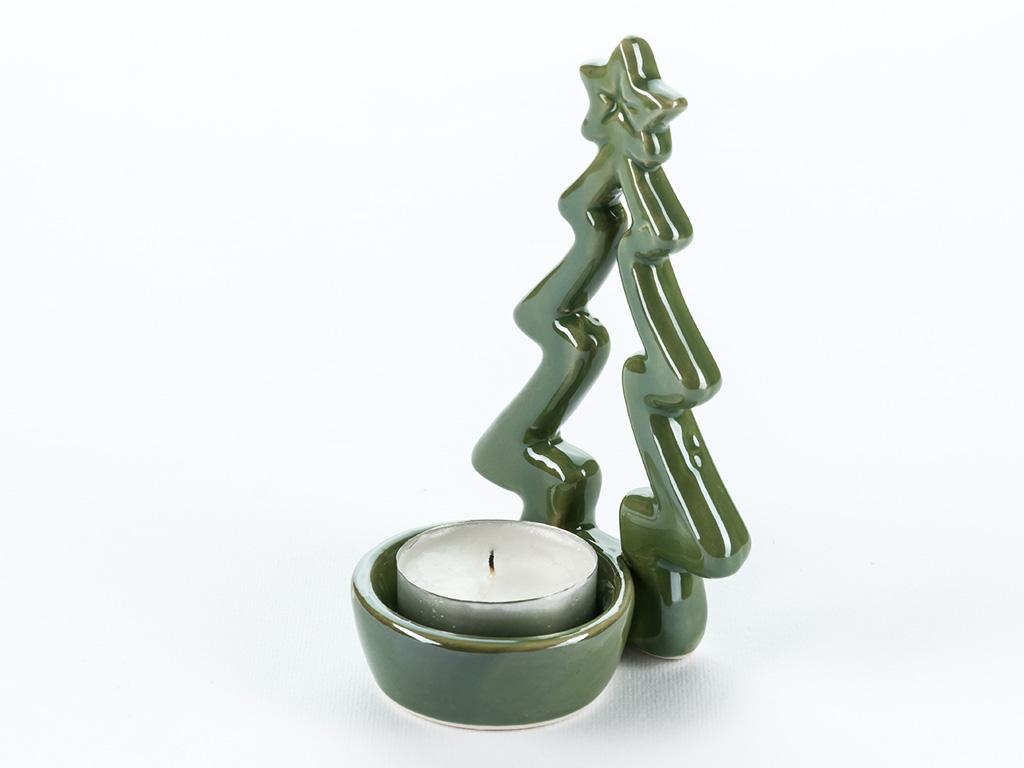 Jingle Stoneware Mumluk 7x6,5x12 Cm Yeşil