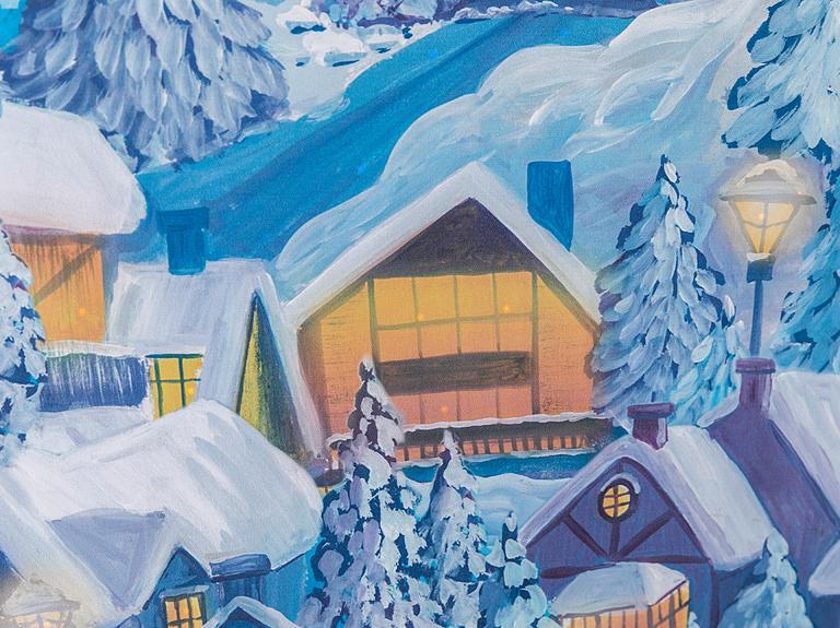 Winter Lights Tablo 64x64x1,8 Cm Renkli