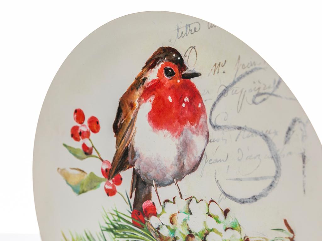 Snow Bird Metal Tablo 27,7x27,7x1,5 Cm Renkli