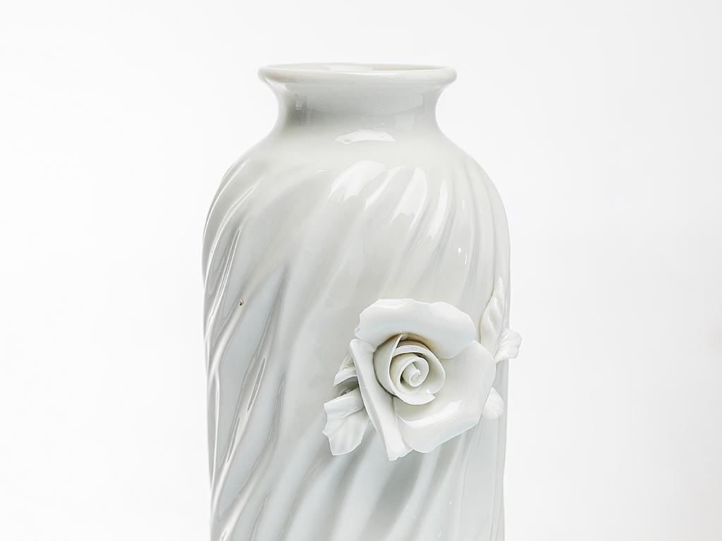 Georgeous Rose Stoneware Vazo 9x8x23 Cm Beyaz