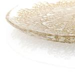 Doly Cam Servıs Tabağı 21 Cm Gold