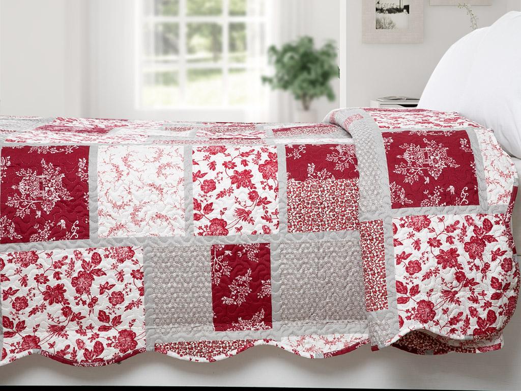 Edolie Çift Kişilik Çok Amaçlı Yatak Örtüsü 200x220 Cm Kırmızı