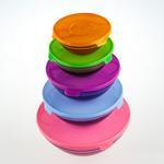 Alesta Cam 5'li Saklama Kabı 150-200-350-500-900 Ml Renkli