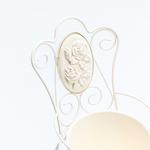 Majestic Rose Ferforje Saksı 15,5x13,5x26 Cm Krem