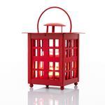 Cute Ferforje Fener 10x10x20 Cm Kırmızı