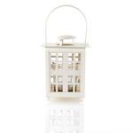Cute Ferforje Fener 10x10x20 Cm Beyaz