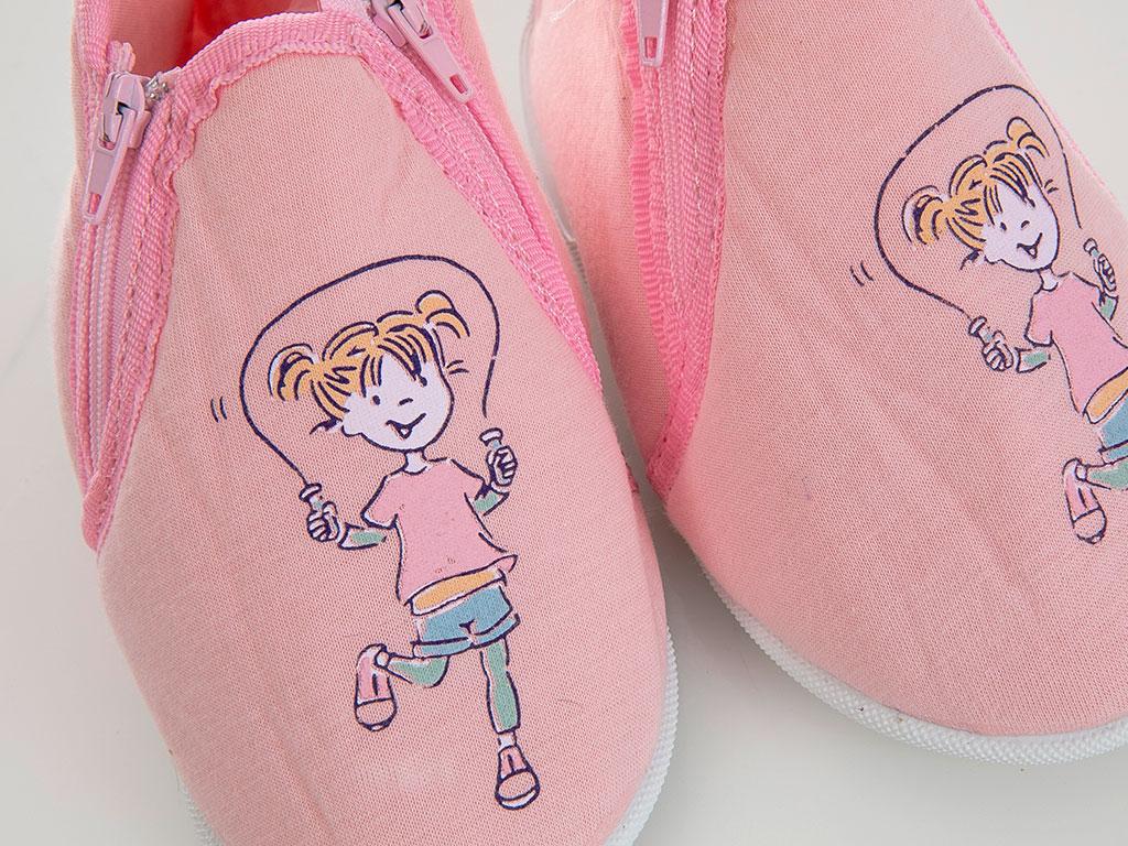Girl Pamuklu Kız Çocuk Çocuk Ev Ayakkabısı 6-7 Yaş Pembe