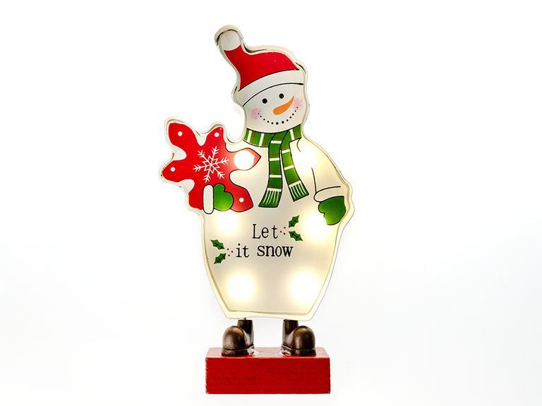 Snowman Led Biblo 10x4x18,5 Cm Renkli
