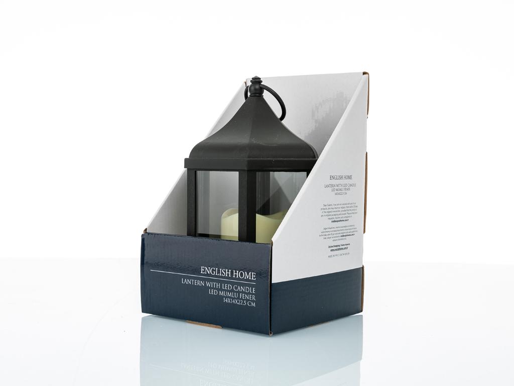 Hope Plastik-metal Fener 14x14x22,5 Cm Siyah