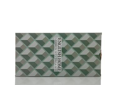 Cubic Ahşap Baskılı Tavla 43,5x22,5x6 Cm Seledon
