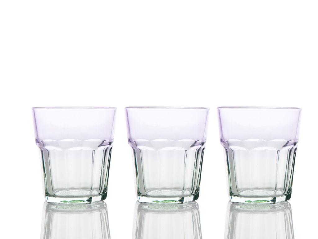 Twist Cam 3'lü Meşrubat Bardağı 265 Cc Renkli