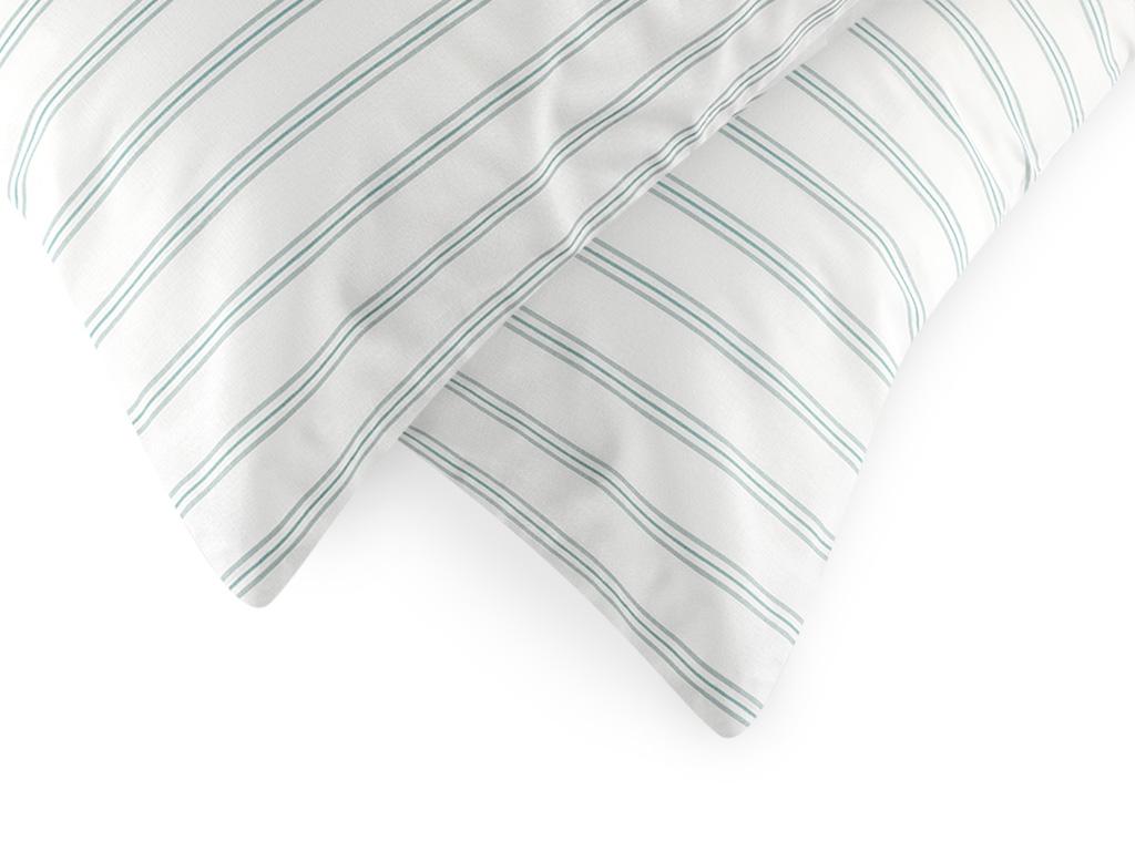 Summer Stripe Pamuklu 2'li Yastık Kılıfı 50x70 Cm Seledon