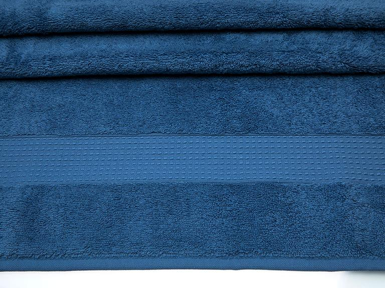Pure Basic Banyo Havlusu 100X150 Cm Koyu Mavi