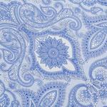 Big Damask Şönil Koltuk Örtüsü 130x170 Cm Mavi