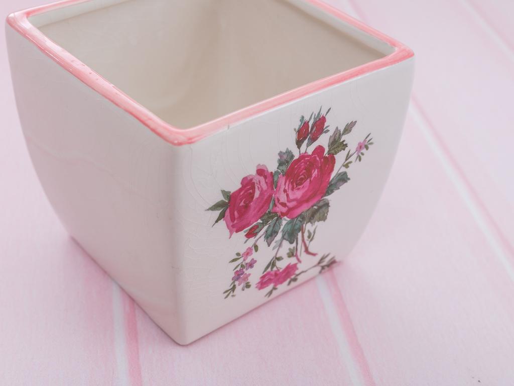Rosebush Orta Saksı 19,5x11,5x11,0 Cm Beyaz