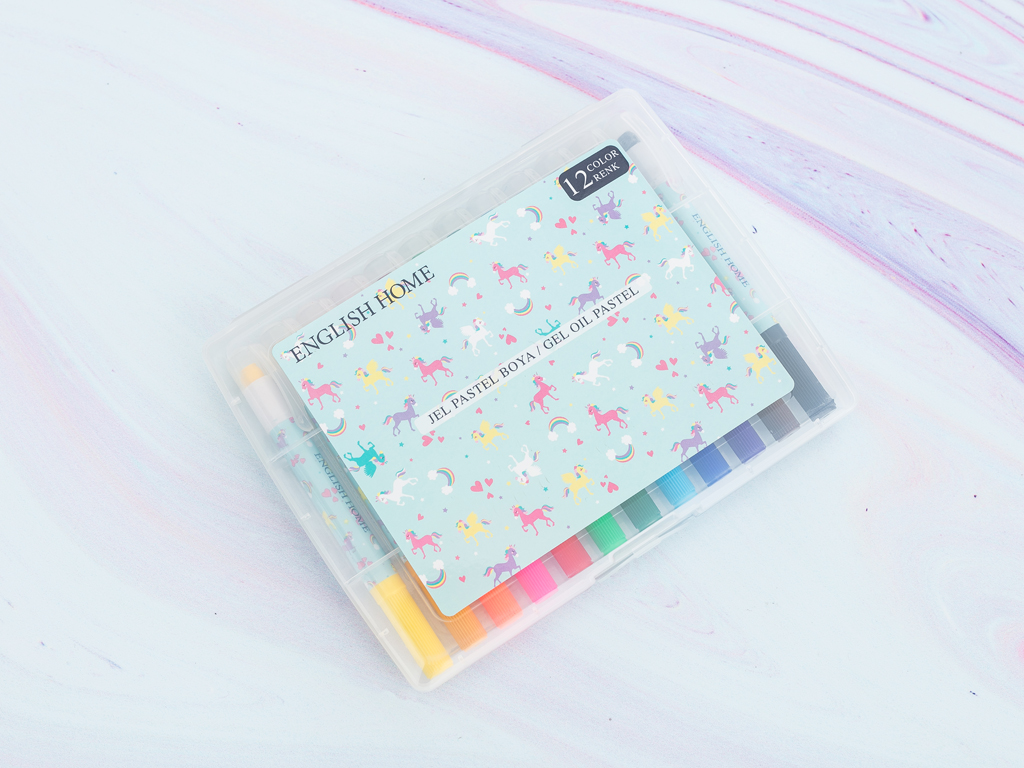 Unicorn Plastik Boya 19,0x14,0x1,5 Cm Mint - Lila - Pembe