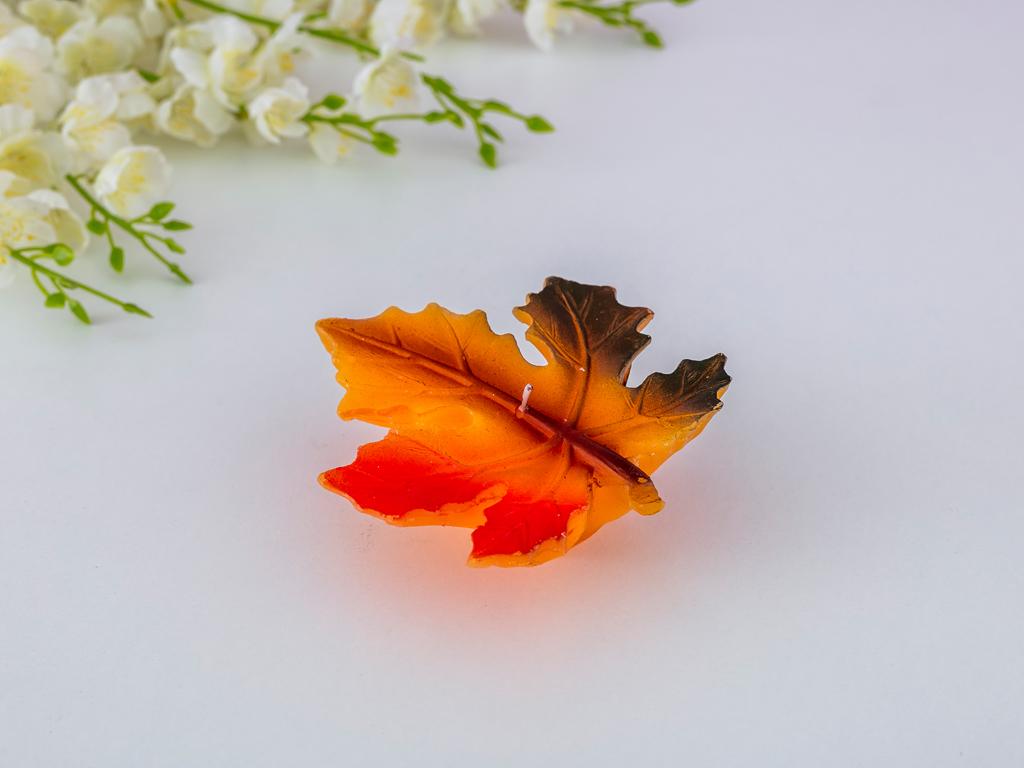 Autumn Leaf Mum 13,2x13,2x4,5 Cm Renkli