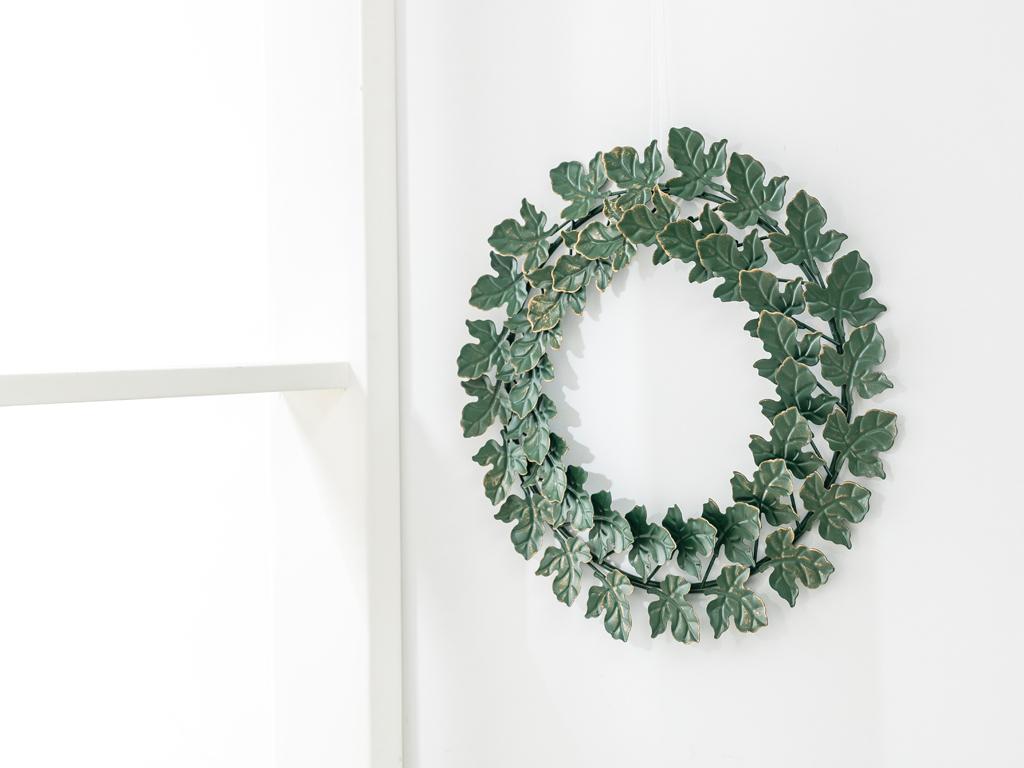 Infinity Loop Metal Kapı Süsü 33x33x1,7 Cm Yeşil