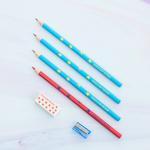 Robot . Silgi - Kalemtraş Kalem 10,5x24,0 Cm Kırmızı - Beyaz - Lacivert
