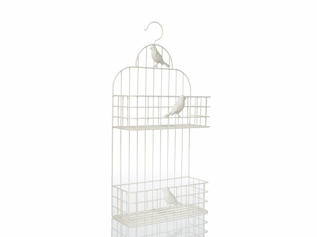 Birds Ferforje Raf 30x12x61,5 Cm Açık Gri