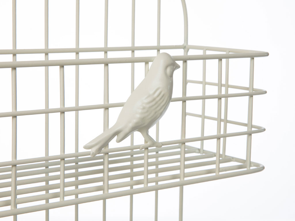 Birds Ferforje Raf 30x12x61,5 Cm Krem