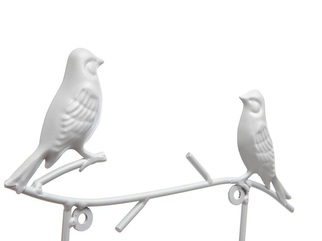 Birds Ferforje 2'li Askı 24x5,5x19 Cm Açık Gri